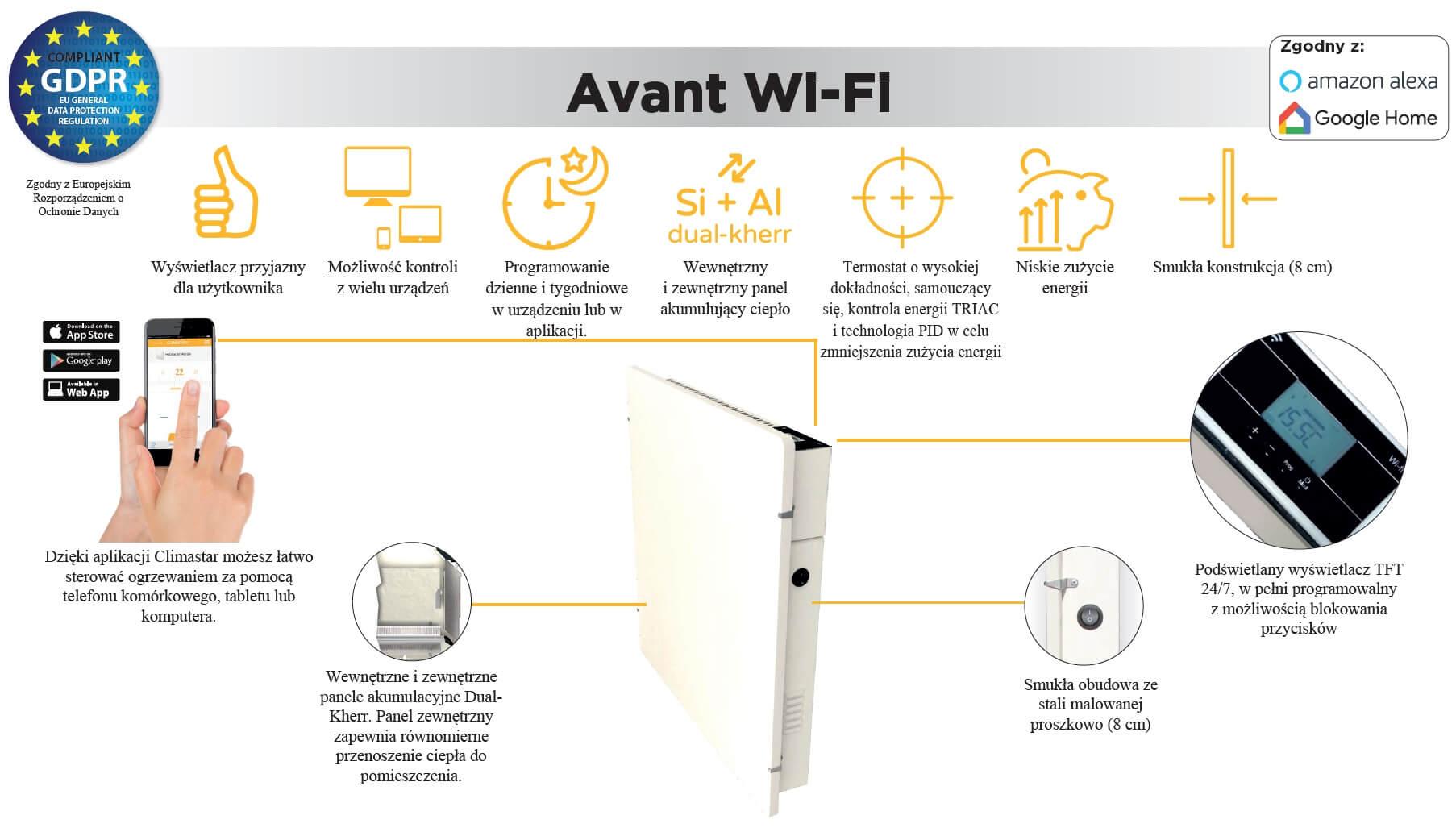 AVANT WIFI 800W informacje