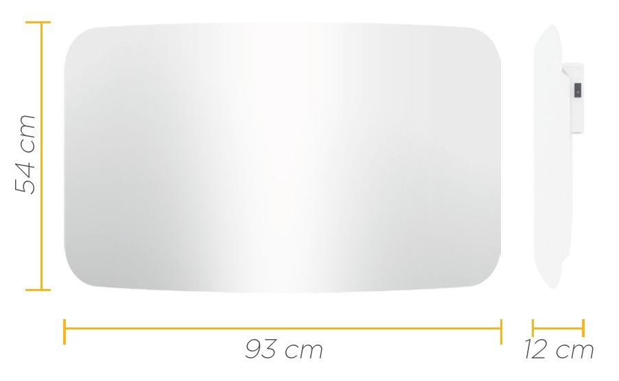 CLIMASTAR STEEL CURVE 1500W wymiary