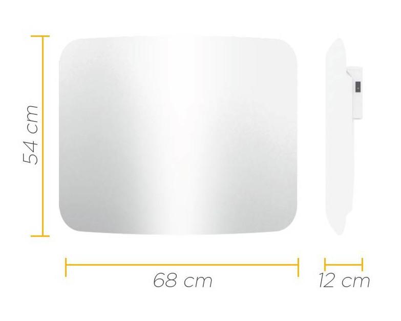 CLIMASTAR STEEL CURVE 500W wymiary