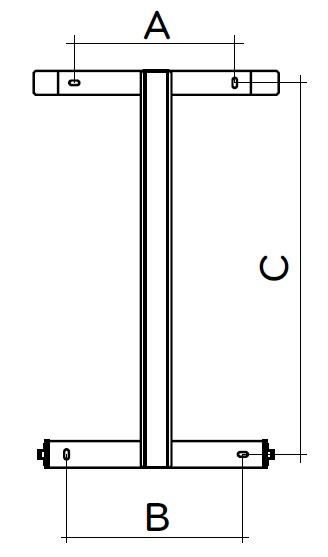 Uchwyt montażowy grzejnika RADIALIGHT ICON 10